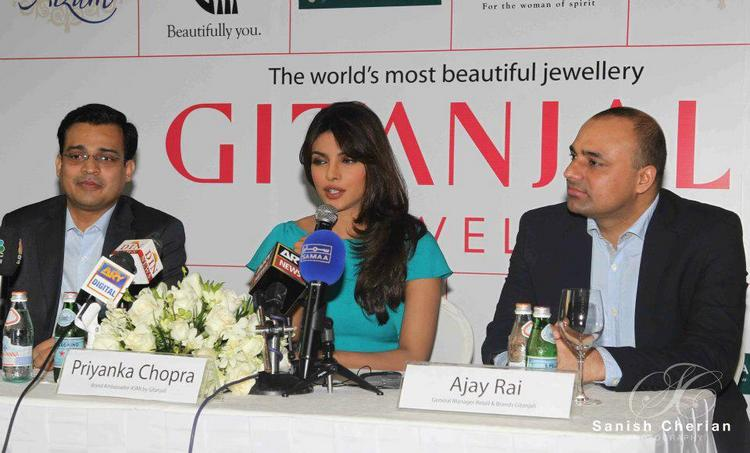 Priyanka Chopra at Press Conference For Gitanjali Jewellery