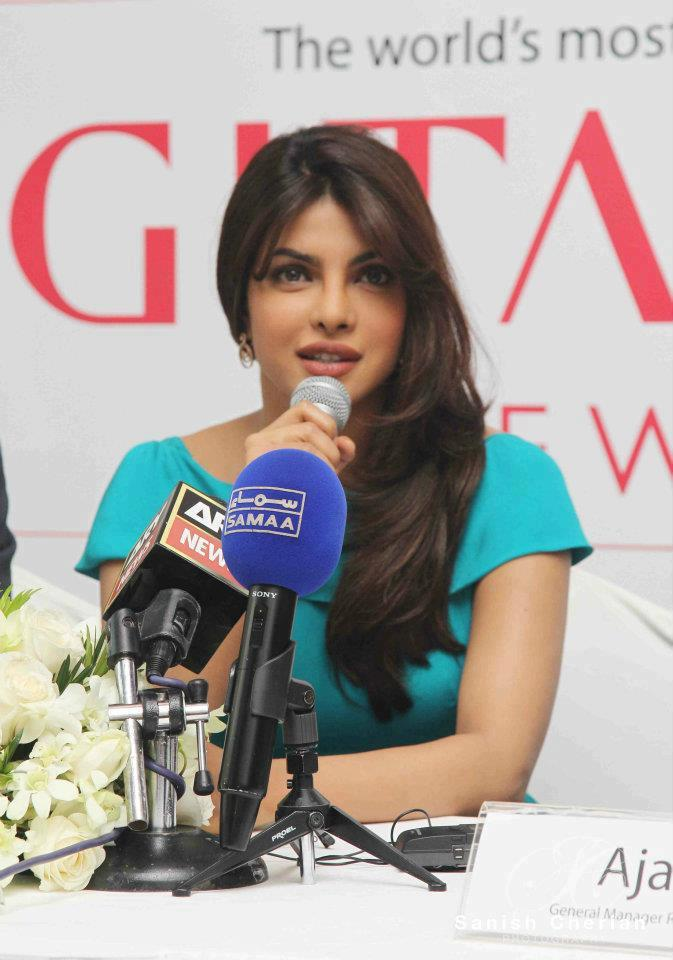 Priyanka Speaks During Press Conference For Gitanjali Jewellery