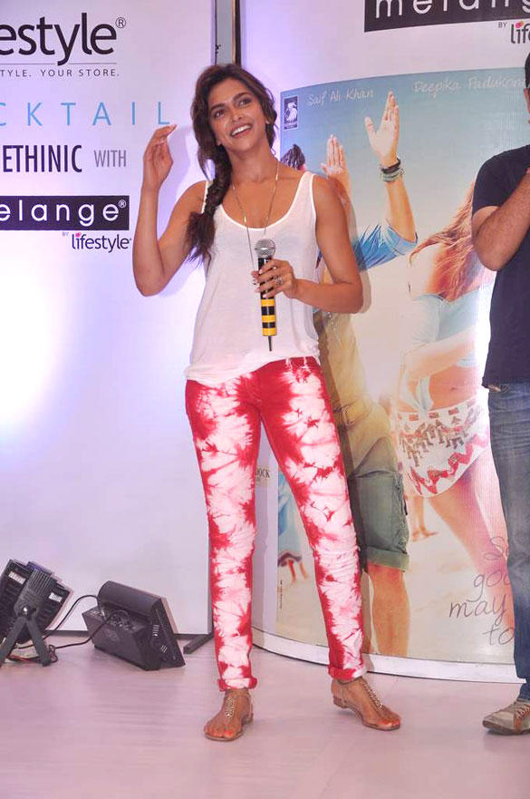 Deepika at the Launch of Cocktail Inspired Collection of Ethnic Wear by Melange