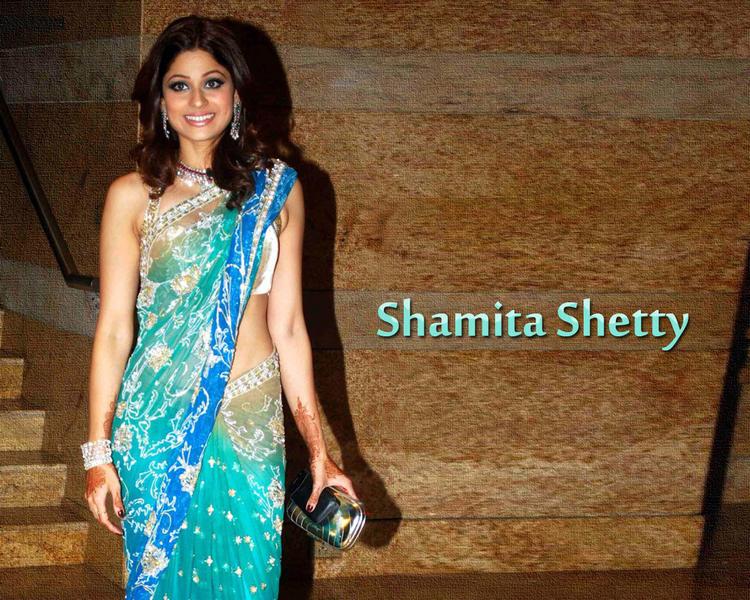 Shamita Shetty Looking Gorgeous In Saree