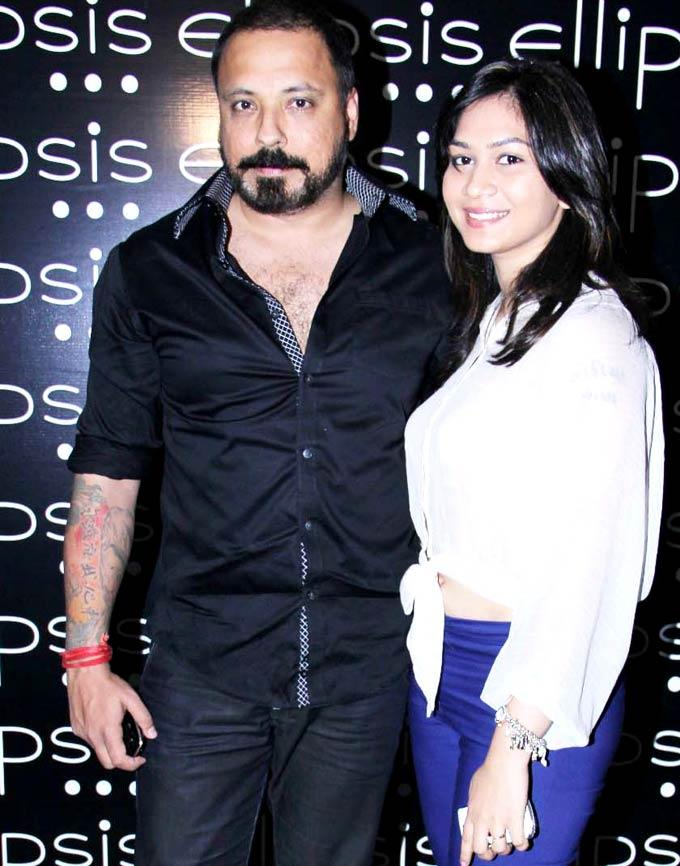 Bunty Walia with a Friend at Opening Of Ellipsis Restaurant