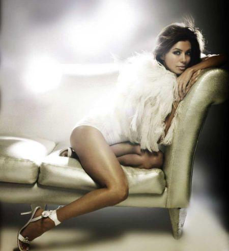 Eva Longoria Sexy Hot Leg Exposing Photo Shoot