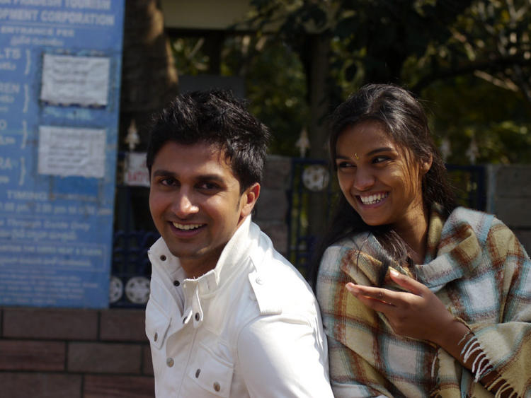 Prakruthi and Viraat Vellanki Cute Smile Pic In Good Morning