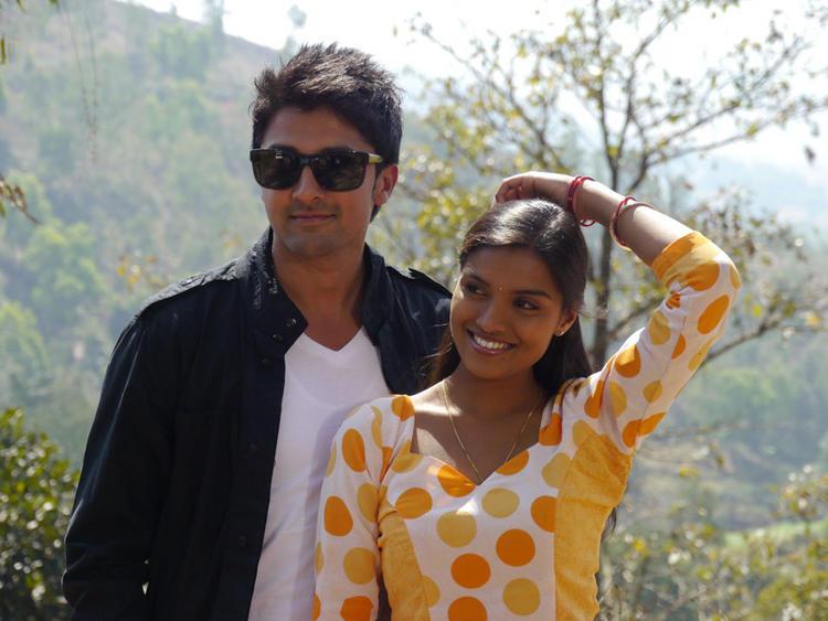 Prakruthi and Viraat Vellanki Sweet Stunning Pic In Good Morning Movie