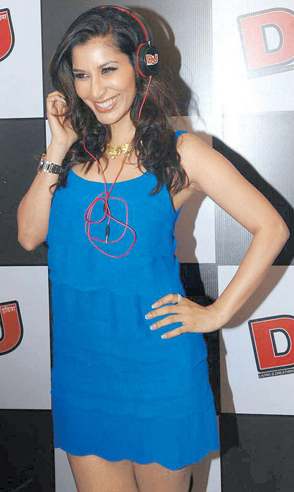 Sophie Chaudhary Light Blue Dress Still at  DJ Magazine Launch in F Bar