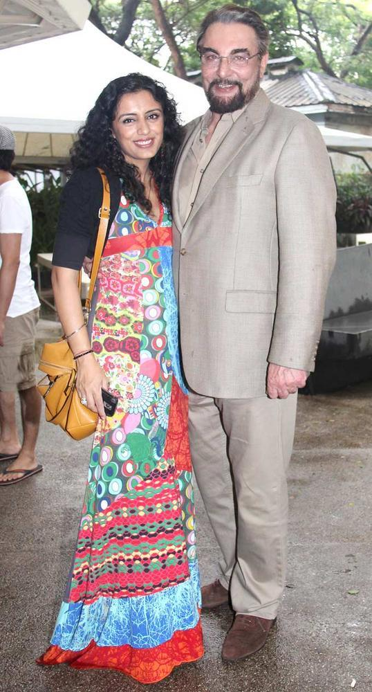 Kabir Bedi with Wife Parveen Dusanj at Viveck Vaswani 50th Birthday Bash