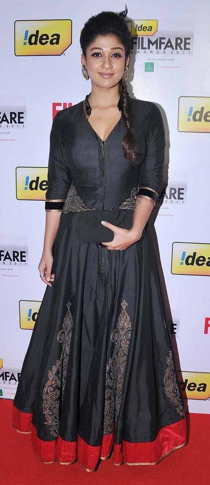 Nayanthara Black Dress Nice Still at 59th Filmfare South Awards
