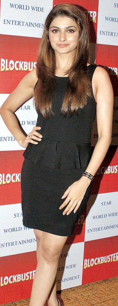 Prachi Desai In A Little Black Dress Still at a Magazine Launch