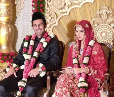 Sania Mirza and Shoaib Malik Wedding Still