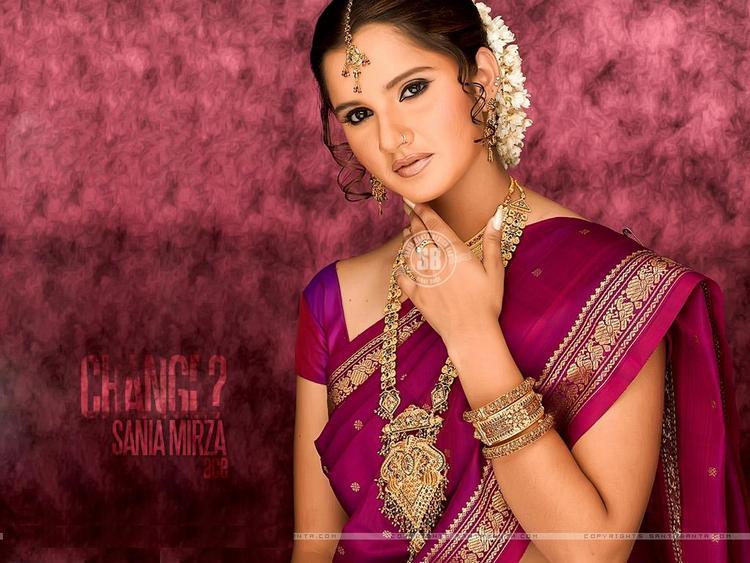 Sania Mirza Beautiful Look Wallpaper