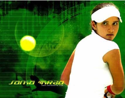 Sensational Tennis Star Sania Mirza Wallpaper