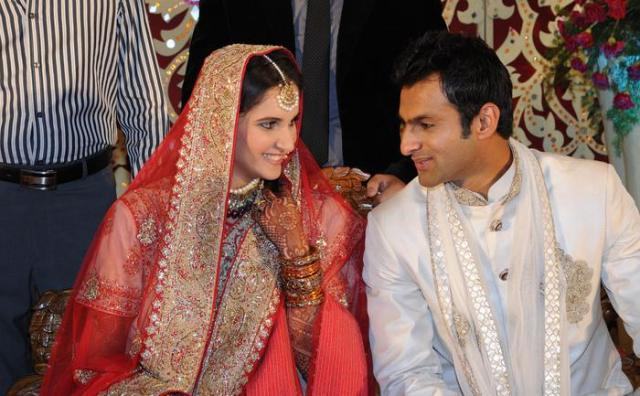Shoaib Malik and Sania Reception Photo