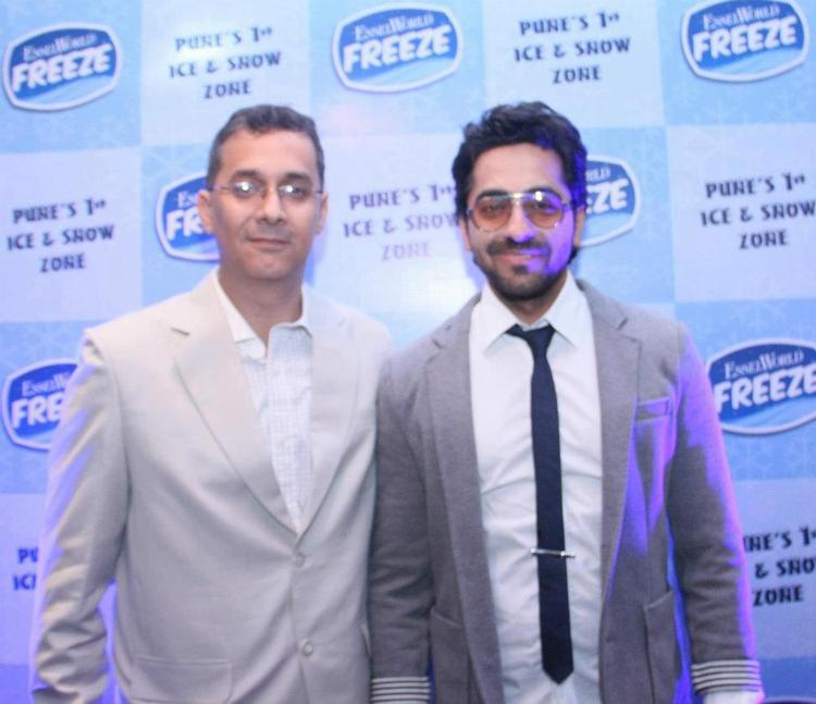 Ayushman and Bhushan Motiani at the Opennig of Essel World FREEZE