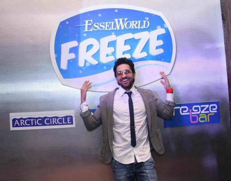 Ayushman Khurana at the Opennig of Essel World FREEZE