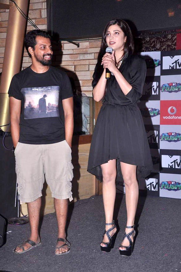 Bejoy and Shruti During The Press Meet of MTV New Show Rush