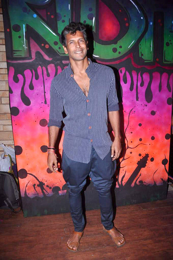 Milind Soman at MTV Popular Show Rush Press Meet In Red Ant Cafe