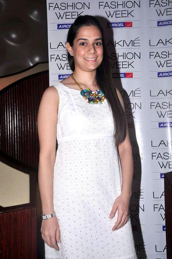 Ritika Bharwani at Lakme Fashion Week Press Meet 2012