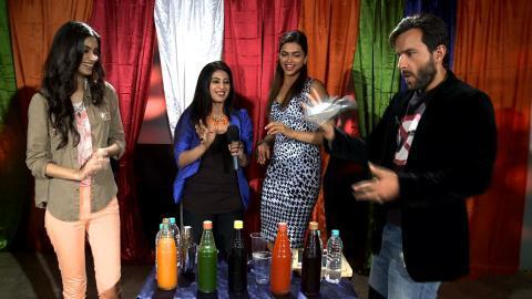 Saif,Deepika and Diana Promoting Their Movie Cocktail on UTV Stars