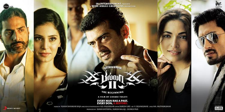 Bruna,Ajith and Parvathy In Billa 2 Poster