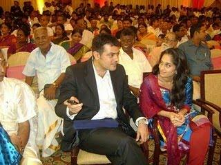 Ajith at Alagiri Son's Reception