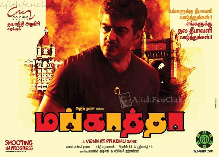 Ajith Kumar Mankatha Movie Poster