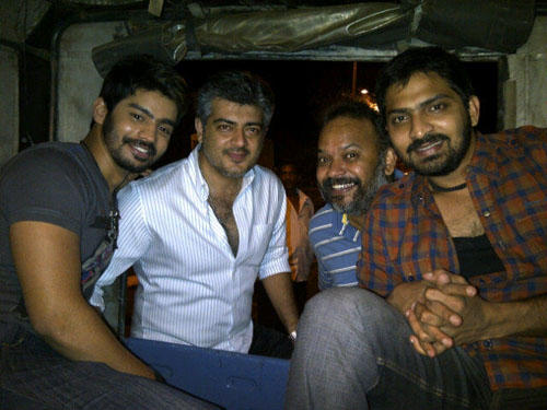Ajith Kumar Mankatha Shooting Spot Still