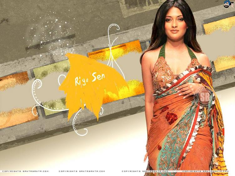 Riya Sen Hot Stylist Wallpaper In Saree