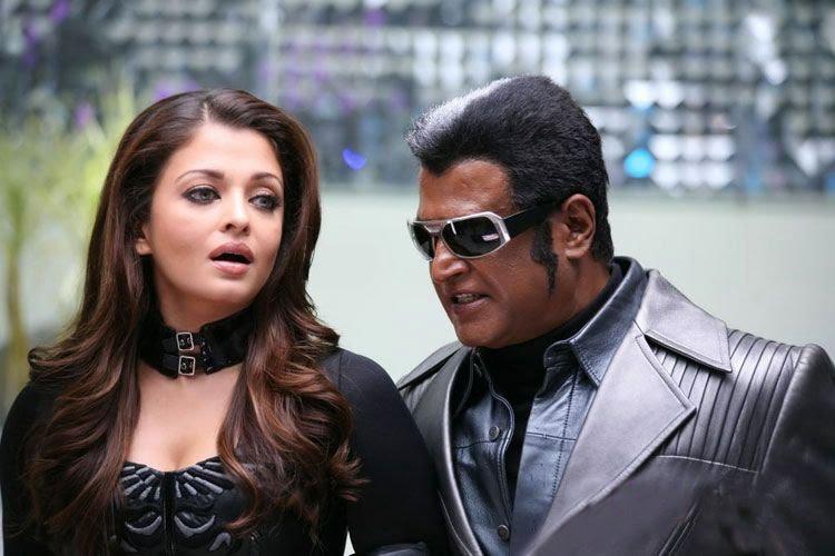 Rajini and Aishwarya In Robot Movie