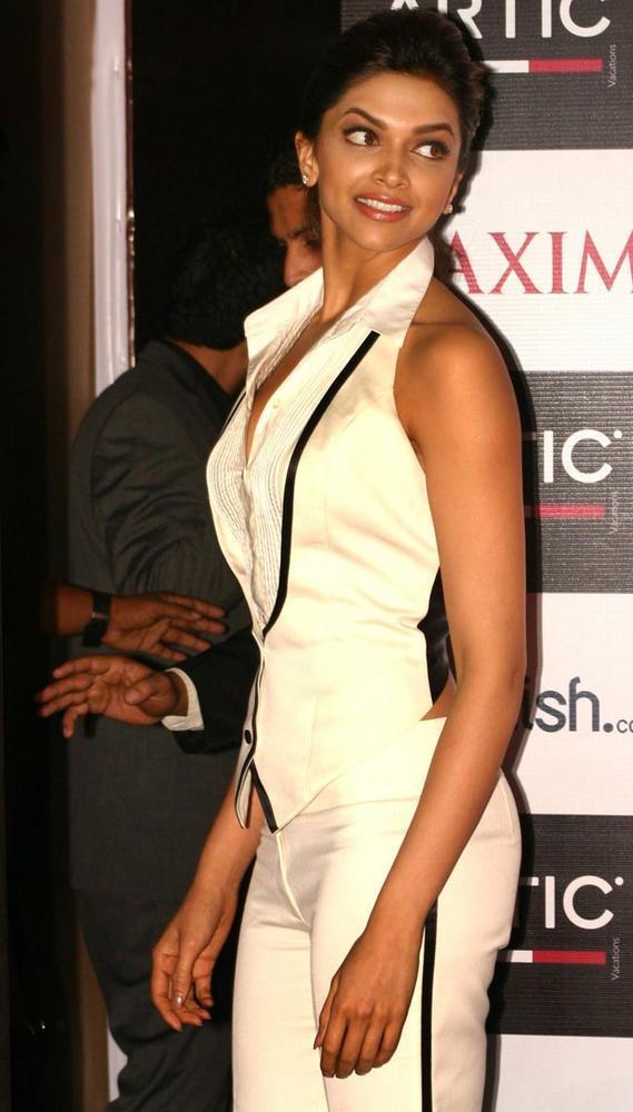 Deepika Strikes A Pose In Stylist White Dress Still