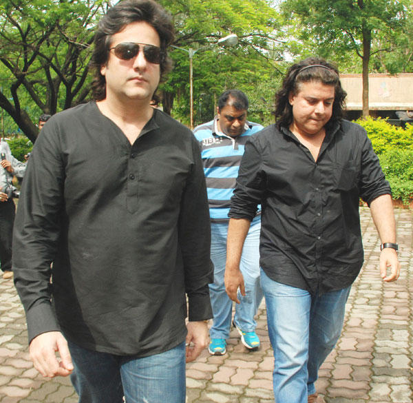 Fardeen Khan and Sajid Khan at Dara Singh Funeral