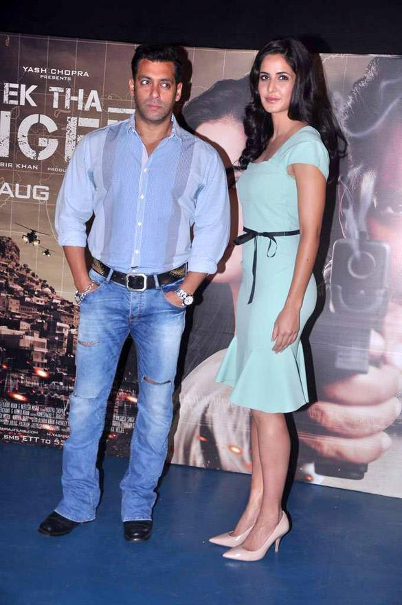 Katrina and Salman at Ek Tha Tiger Song Mashallah Launch Event