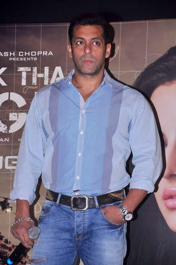 Salman Khan at Ek Tha Tiger Song Mashallah Launch Event
