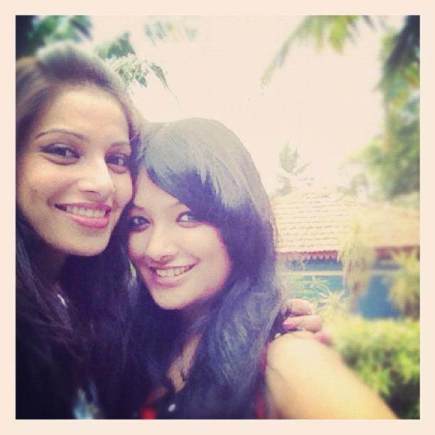 Bipasha is in Goa with Her Younger Sister Bijoyeta
