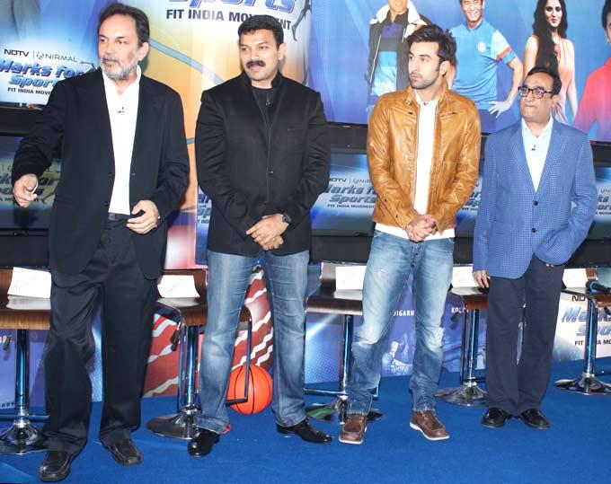 Ranbir Kapoor at NDTV Marks For Sports Event