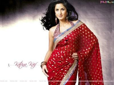 Katrina Kaif In Red Saree Dazzling Pic