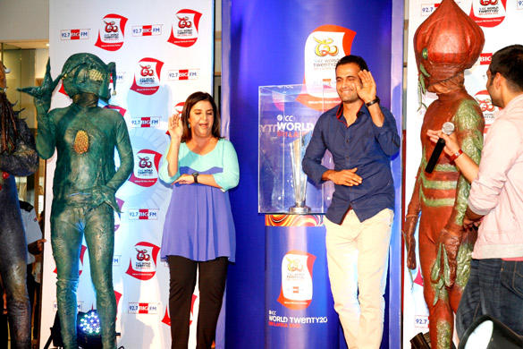 Farah And Irfan Pathan Unveil World Cup T 20 Trophy Launch Event