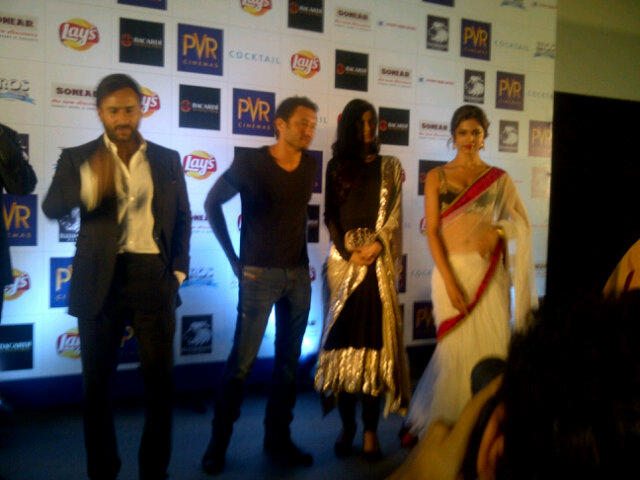 Saif,Deepika and Diana at an Event Of Cocktail