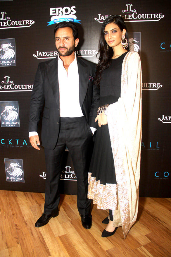 Saif and Diana Penty Snapped at Imperial Hotel To Promote Cocktail