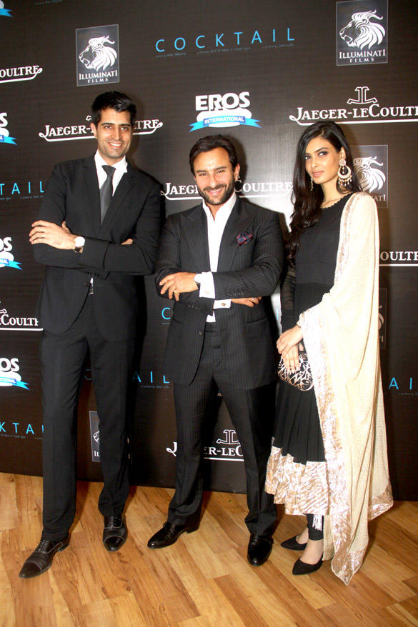 Saif and Diana Snapped at Imperial Hotel To Promote Their Upcoming Movie Cocktail