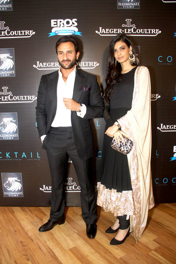 Saif and Diana Strikes a Pose at Imperial Hotel To Promote Their Upcoming Movie Cocktail