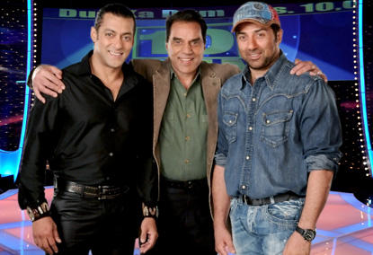 Sunny Deol With Dad In Dus Ka Dum