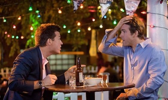 The Change Up Movie Ryan Reynolds and Jason Bateman Drink Still