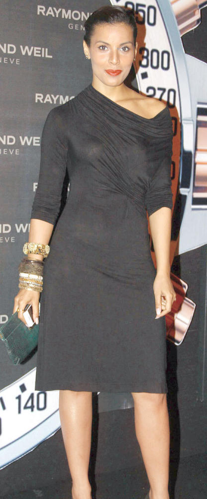 Deepti In Black Dress At Raymond Weil Store Launch Party