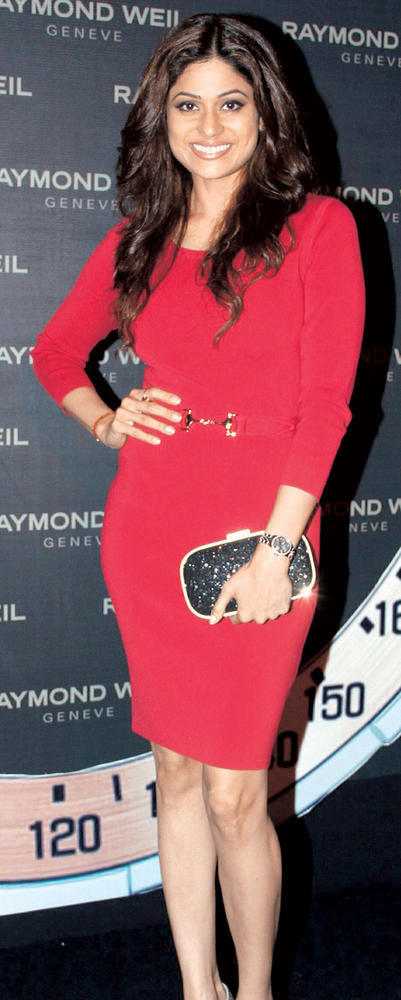 Shamita In Red Dress Hot  Look At Raymond Weil Store Launch Party