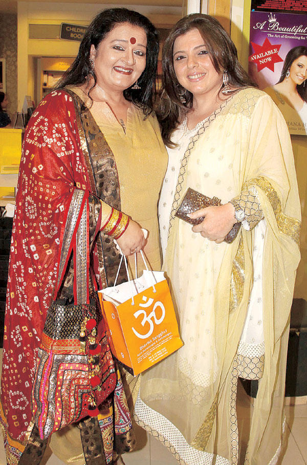 Apara And Delnaaz  At Bhavikk's Book Launch Party