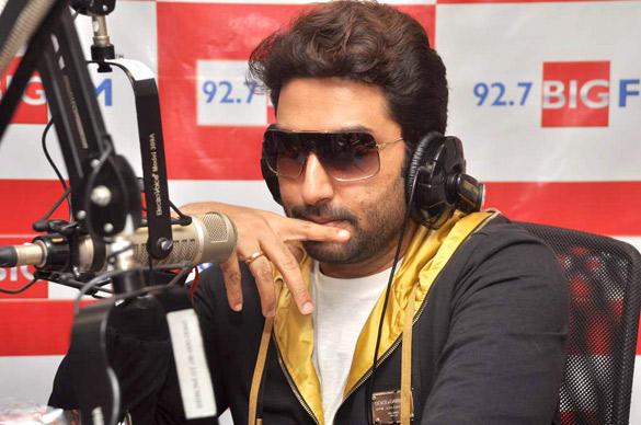 Abhishek Stylist Look  At 98.7 BIG FM To Promote Bol Bachchan