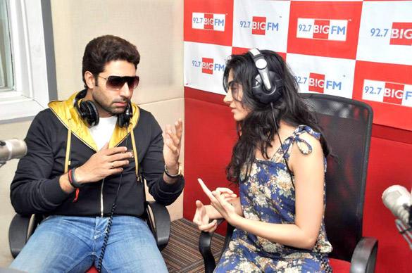 Abhishek,,RJ Yamini  At 98.7 BIG FM
