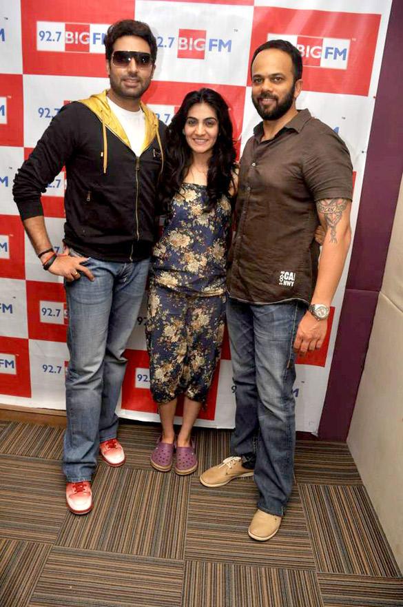 Abhishek,Rohit  And RJ Yamini  At 98.7 BIG FM To Promote Bol Bachchan