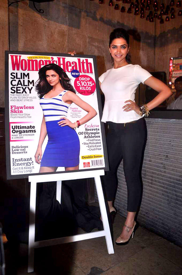 Deepika Launches Double Issue of Women's Health Magazine