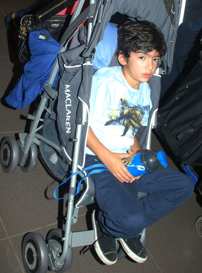 Hrehaan The Son Of Hrithik Spotted At The Airport